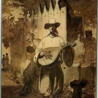 Бандурист  1843. Папір, сепія.