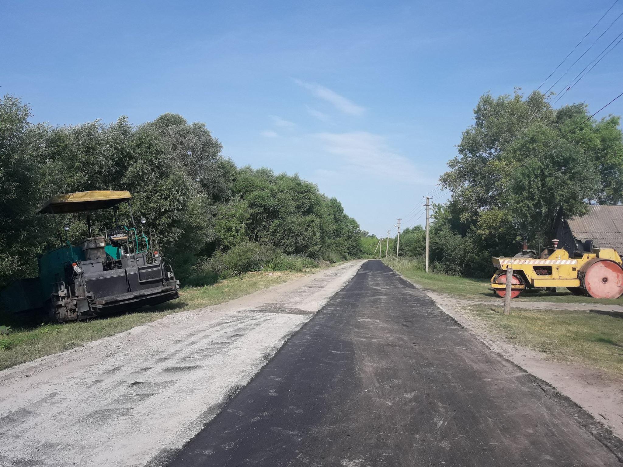 Ремонт дороги місцевого значення по вулиці Польовій, що в селі Мала Рибиця