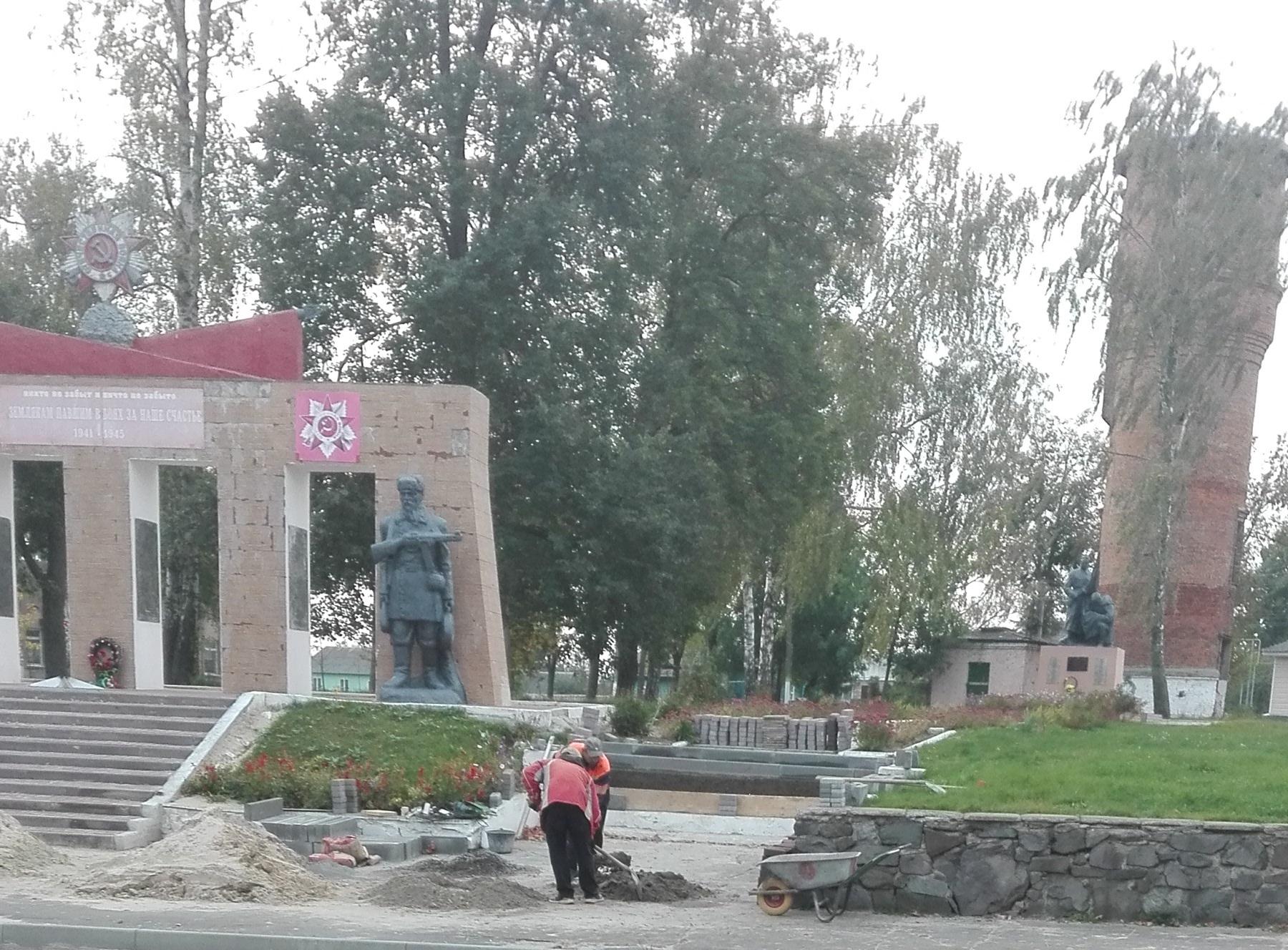 Сходи до меморіалу ремонтуються у порядку допомоги