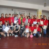 Команди-учасниці 9-го жіночого волейбольного турніру на честь вчителя Шевченківської школи  Мальченка Г.Г., який відбувся 11.03.2016