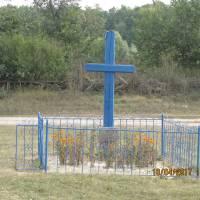 Хрест на місці першого храму
