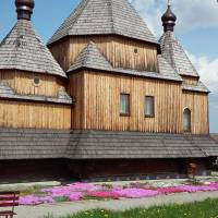 Дерев'яна церква св. Іоанна Богослова, архітектурна пам'ятка XVII ст., с.Скорики