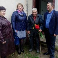 Вітали ветерана Гисика Б.І. с.Медин