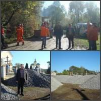 ремонт дороги в селі Глещава