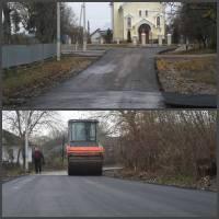 Будівництво дороги в с.Глещава 2016 р.