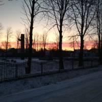 Захід сонця у Нападівці