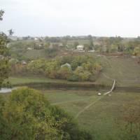 Панорама річкової заплави Збруча