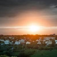 Захід сонця над Селищем Докучаєвське