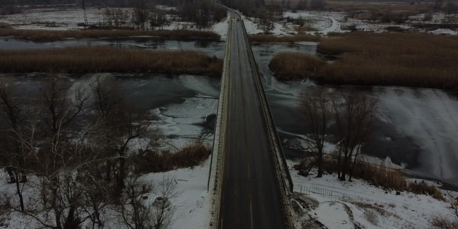 міст через річку Сіверський Донець