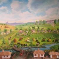 Панорама старого села Грушине з музею