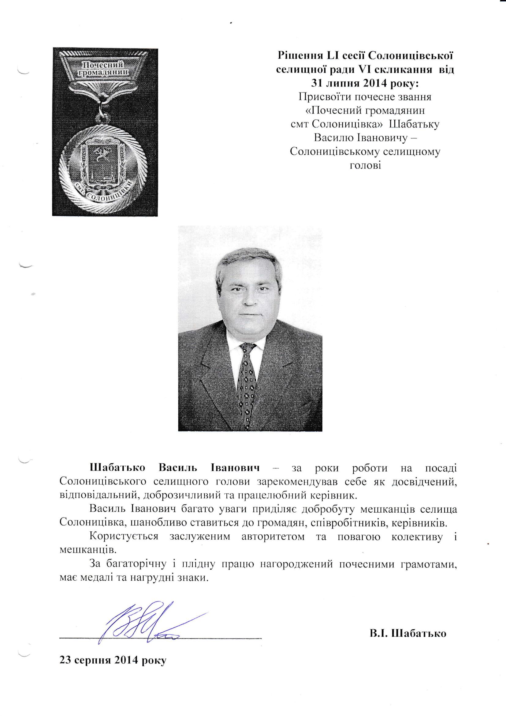 Шабатько Василь Іванович