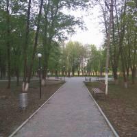 У парку біля ставку