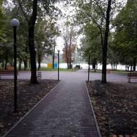 Новий тротуар у парку біля Маслозаводсього ставку