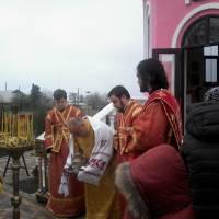 Богослужіння в Димитріївському храмі-часовні с. Догмарівка