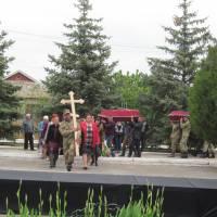 Перезахоронення останків п'яти загиблих воїнів в с.Преображенка