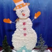 Назва роботи: «Веселий сніговик» Виконавець: Завацька Софія,  учениця  Надеждівської ЗОШ І – ІІІ ступенів