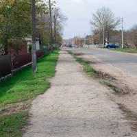 Ремонт тротуару по вулиці Шевченка смт. Білогір'я