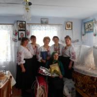 працівники Бокиївського СБК та бібліотеки з ювіляркою Богач Г.С.