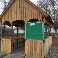 Альтанка для рекреації та природничих занять в Останковецькій ЗОШ