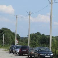 Поточний ремонт  локальних електричних мереж вуличного освітлення  в с.Улашанівка  вул.Перемоги (встановлення опор від ТП-73)