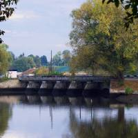 Місток, річка Случ в селі Старий Остропіль