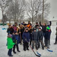 Гра в хокей на катку