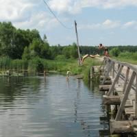 Плавучий міст, смт. Короп