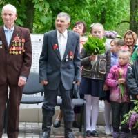 Герасименко І. П. учасник бойових дій (зліва) та Корж І. В. учасник війни - ветерани громади