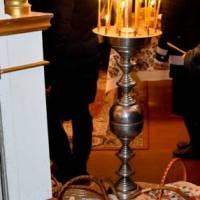 Освячення великодніх кошиків у Свято-Миколаївській православній церкві села Вертіївки