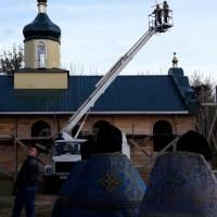 Встановлення хреста на церкву в с. Велика Загорівка