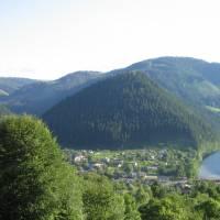 вид на село, гора Гича