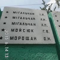 Меморіальна дошка воїнам односельчанам