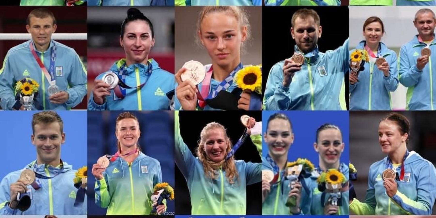 Українські медалісти Токіо-2020
