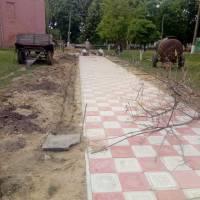 Ремонт тротуарної доріжки в міському парку