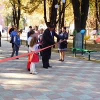 Відкриття дитячих атракціонів на грового майданчика