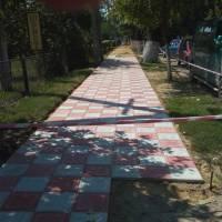 Ремонт тротуару по вул. Соборній.