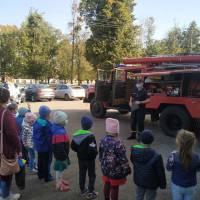 Рятувальники Яготинського районного сектору провели екскурсію для дошкільнят