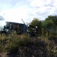 Загорання господарчої будівлі в с. Фарбоване