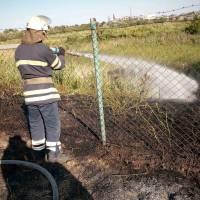 Загорання сухої трави
