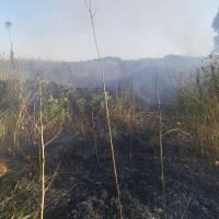 Про загорання місця залягання торфу та сухої трави