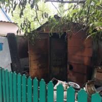 Загораннягосподарчої будівлі в с. Кулябівка