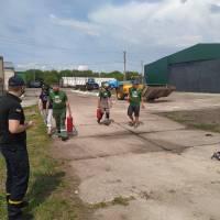 Працівниками Яготинського РС ДСНС проведено профілактичний рейд до місцевого зернозбирального господарства