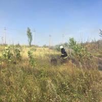 Про загорання сухої травив м. Яготин по вул. Київська