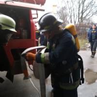 Практичні навчання 28-ї Державної пожежно-рятувальної частини м. Яготина