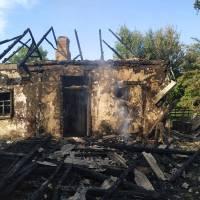 Загоранняжитлового будинку в с. Лозовий Яр