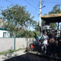 Капітальний ремонт дорожнього покриття вулиці Грушевського вмісті Яготині