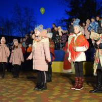 Святкове відкриття новорічної ялинки на центральній площі Яготина