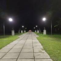 Облаштування вуличного освітлення на Алеї героїв