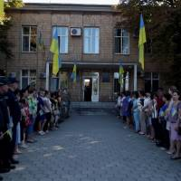 Урочиста церемонія підняття Державного Прапора України