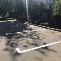 Роботи по відновленню дорожньої розмітки по вул. Гвардійська в смт Чорноморське .